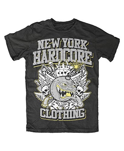 New York Hardcore-NYHC-Bombe T-Shirt Schwarz