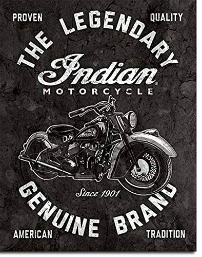 Indian Motorcycles - Legendary Tin Sign 12.5