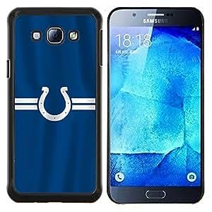 Herradura- Metal de aluminio y de plástico duro Caja del teléfono - Negro - Samsung Galaxy A8 / SM-A800