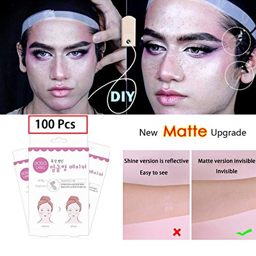 Face Lift Cosmetics - 【New Matte Upgrade】 100PCS/Box Face Lifting Patch Invisible Artifact Sticker Lift Chin Thin Face Sticker Adhesive Tape Make-up Face Lift Tools