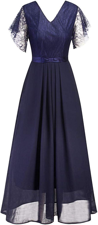 MIRRAY Damen Spitzen Abendkleider 18er Jahre Kleider Partykleid