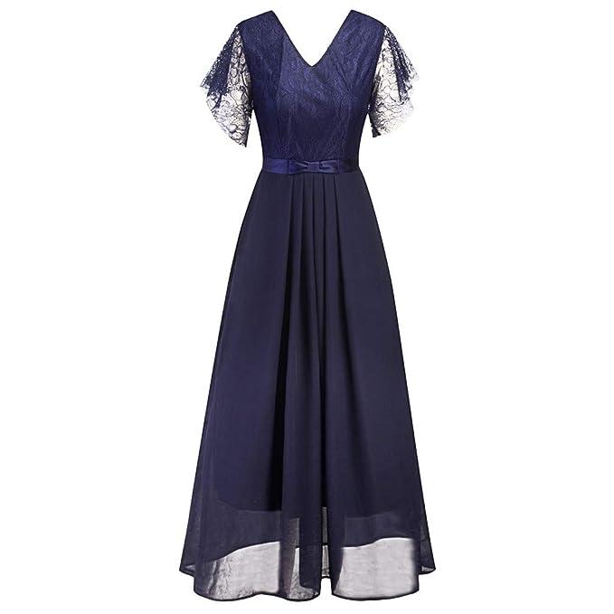 177d192ca Vectry Rebajas Vestidos De Fiesta Vestidos Liso Vestidos con Escotado por  detrás Vestidos para Boda Vestidos