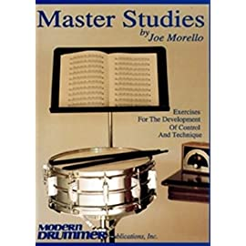 A picture of the front cover of the legendary drum book Master Studies by Joe Morello