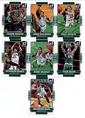 2014/15 Donruss Basketball Team Set (Veterans)- Boston Celtics (7 Cards)> Brandon Bass,Tayshaun Prince,Tyler Zeller,Avery Bradley,Jameer Nelson,Jared Sullinger,Kelly - Prince Bass