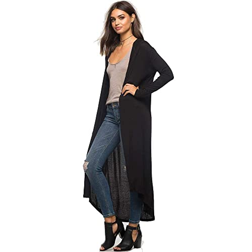 ESAILQ Otoño de moda de las mujeres de gran tamaño de la capa de manga larga chaqueta con capucha