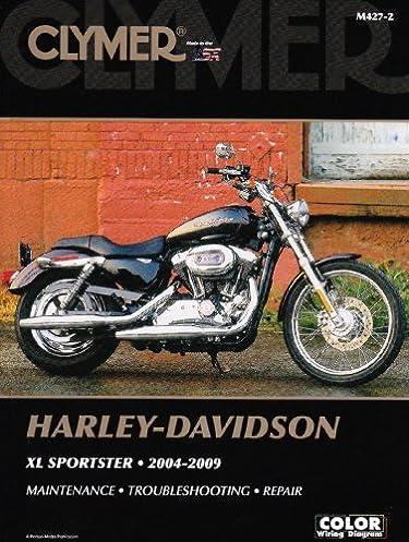 clymer harley davidson xl sportster 2004 2009 clymer motorcycle rh amazon com