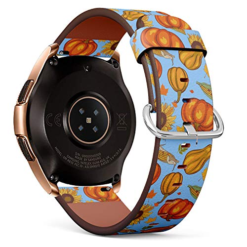 Compatible with Samsung Galaxy Watch (42mm) - Leather Watch Wrist Band Strap Bracelet with Quick-Release Pins (Autumn Harvest)