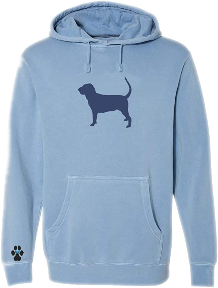 Heavyweight Pigment-Dyed Hooded Sweatshirt with/Bloodhound Silhouette