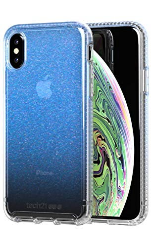 (tech21 Pure Shimmer for Apple iPhone X/iPhone Xs - Blue)