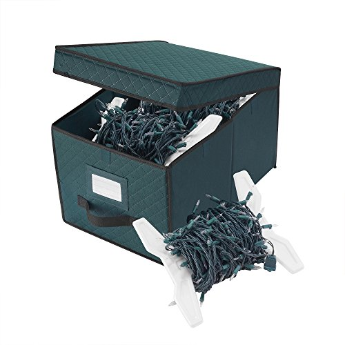 Elf Stor Green XMAS Light Strand Storage Box Organize over 400 Foot of Lights