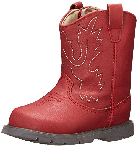 Baby Deer Western Boot (Infant/Toddler),Red,7 M US Toddler ()