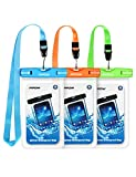 "Mpow 024 Waterproof Case, Universal IPX8 Waterproof Phone Pouch Underwater Protective Dry Bag Compatible iPhone Xs Max/XS/XR/X/8/8P, Galaxy S10/S9, Google Pixel/HTC up to 6.5"" (Blue Orange Green)"