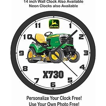 Amazon Com John Deere Vintage Ad Double Neon Clock Home