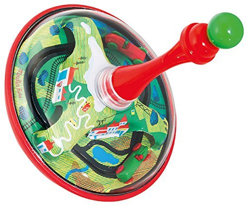 Moulin Roty ''Les Jouets'' Metal Spinning Top with Moving Race Cars