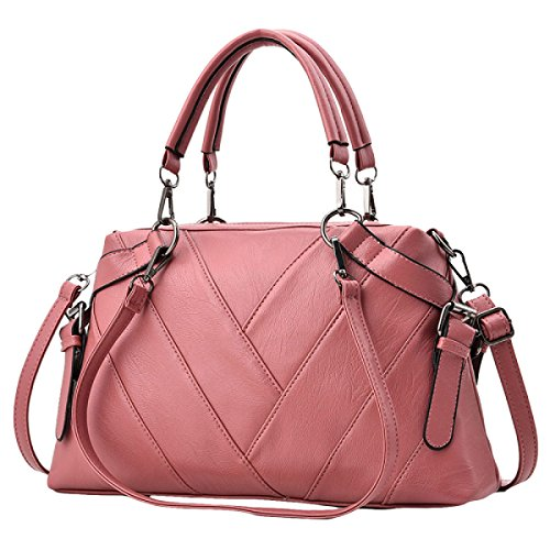 Bags For Women Ladies Vintage Pu Leather Wallets Miss Soft Leather Shoulder Bags Messenger Bags Pink