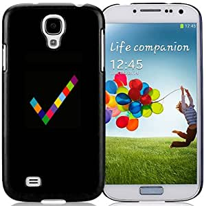 Fashionable Custom Designed Cover Case Samsung Galaxy S4 I9500 i337 M919 i545 r970 l720 With Colored Confirm Symbol Phone Case Cover
