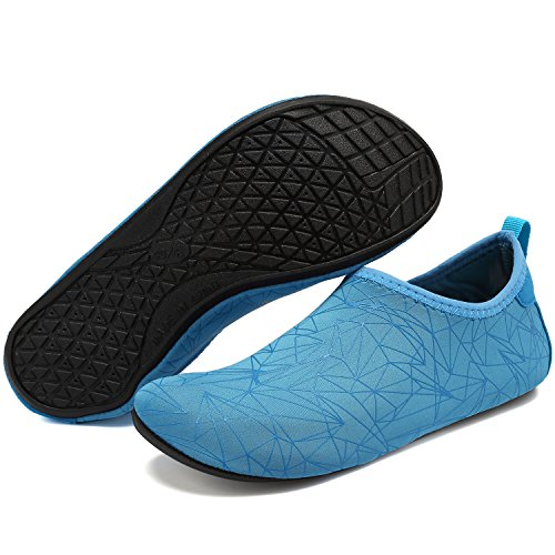 Shoes Quick Drying Shoes Geometricblue Beach Water Exercise for Women Pool Aqua Yoga VIFUUR Unisex Men 5vw06qxE