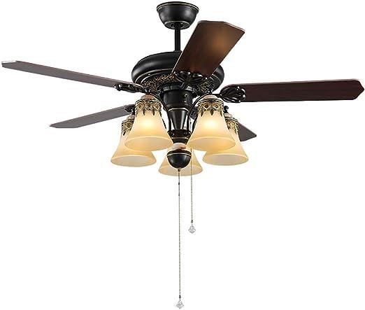Ceiling fan light Lámpara de Techo empotrada de 5 Hojas con ...