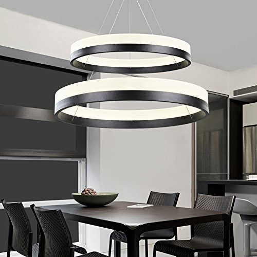 Sofary Modern Two Rings (11 8 - 19 7 Inches) Chandelier
