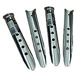 5Pcs 8 7/8 inch Aluminium Snow Sand Peg