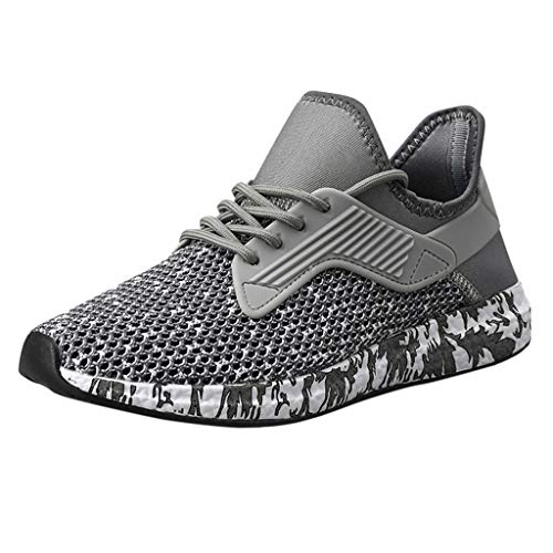 JJLIKER Men's Camouflage Sneakers Mesh Cut Out Shoes Comfortable Ultra Lightweight Running Shoes Breathable Tennis Shoes