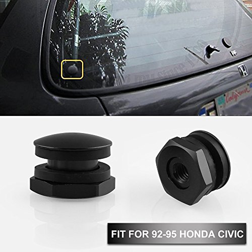 Sporacingrts Rear Glass Strut Hardware Kit For 92-95 Honda Civic 3Dr Hatchback EG6 CRV Black