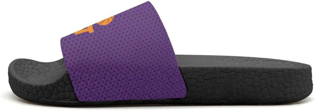 ADIDII Mens Printed Non-Slip Slide flip Flop Sandals La/_Bron/_Yellow/_Logo/_Basketball Summer Soft