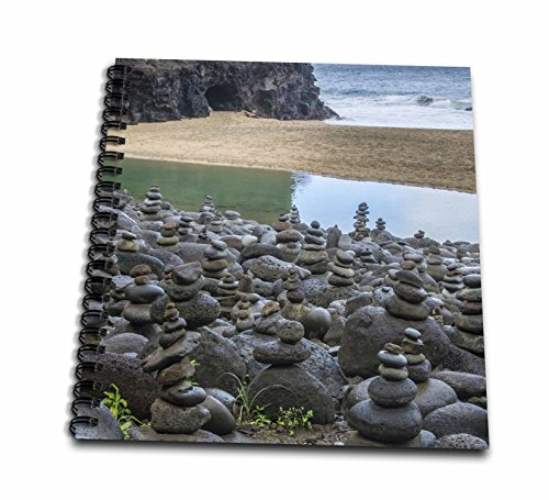 (3dRose Danita Delimont - Beaches - Hawaii, Kalalau Trail, Kauai, Napali, Pacific Ocean, rock cairns - Memory Book 12 x 12 inch (db_278938_2))
