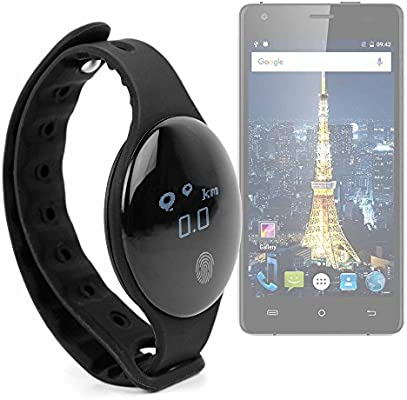 DURAGADGET Reloj/Pulsera de Actividad Unisex en Color Negro, con medidor de Pasos, Distancia y calorías para Smartphone Cubot King Kong/Cubot Echo/Oukitel Mix 2: Amazon.es: Electrónica