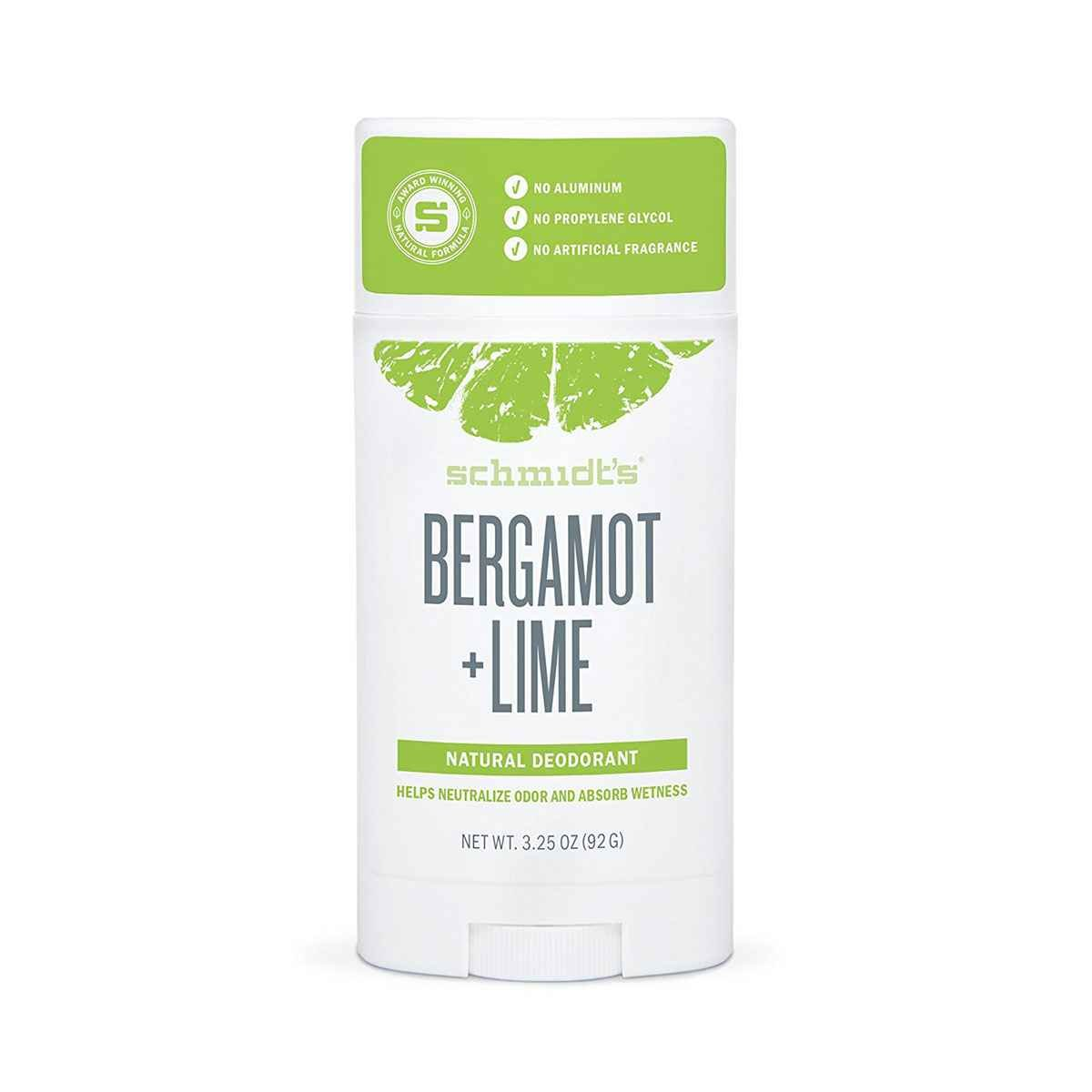 Schmidt - Desodorante Bergamota + Lime, 3,25 OZ (92g) Schmidt's Deodorant 019962085017