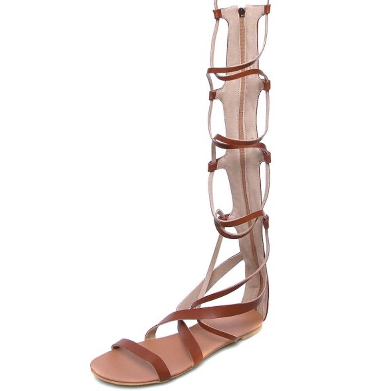 Zanpa Damen Klassisch Flachs Gladiator Sandalen