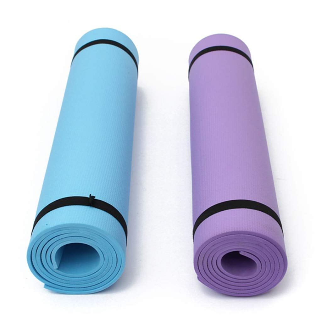 Amazon.com : Jzmai Yoga mat Non-Slip Yoga Mat Beginner Male and Female Thickening Widening Tasteless Fitness Blanket Yoga Mat Indoor Home (Color : Blue) ...