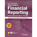 First Lesson in Financial Reporting for CA Final November 2018 Exam (Old Syllabus)