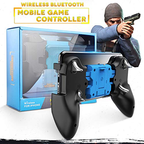 AnoKe Mobile Controller - Mobile Game Controller for iOS [Not fit Android], Cellphone Game Trigger, Battle Royale Wireless Sensitive Shoot and Aim Gift for Kids Mobile Phone Joystick