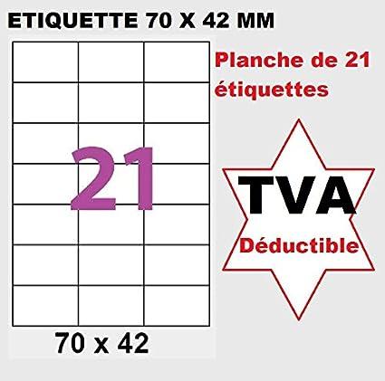 etiqueta de papel 500 A4 hoja 21 pegatina 70 x 42 mm de ...