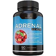 Premium Adrenal Support Supplement - Adrenal Formula For Energy, Adrenal Health & Mood – Adrenal Complex Includes Ashwagandha, L-Tyrosine, Holy Basil & Acerola –90 Veggie Capsules