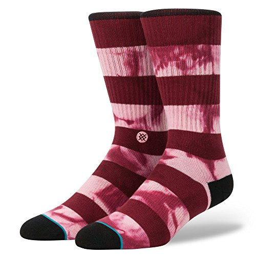 Stance M526B16WEL Men's Wells Sock, Maroon - L
