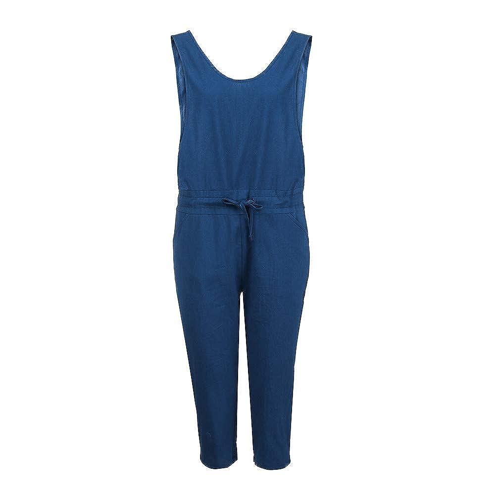 d2a3f65c0a80 Amazon.com  Zainafacai Fashion Women s Baggy Denim Jean Overalls Harem  Rompers Jumpsuit Pant  Clothing