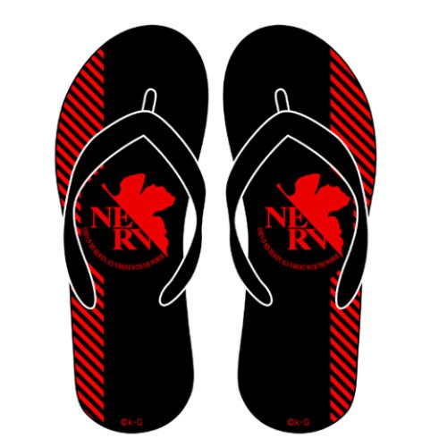 Evangelion Black Nerv Logo Cospa Beach Sandals Flip Flops 19788 j0uIl