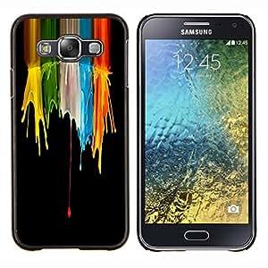 EJOOY---Cubierta de la caja de protección para la piel dura ** Samsung Galaxy E5 E500 ** --Color Splash Cráneos Cráneo