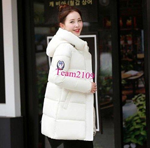 T Fur Jacket Overcoat Long Coat Warm Down Red Parka Slim S White Outwear Women Hooded Winter S Yx7UAnY