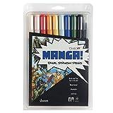 Tombow Dual Brush Pen Art Markers, Manga Shonen, 10-Pack