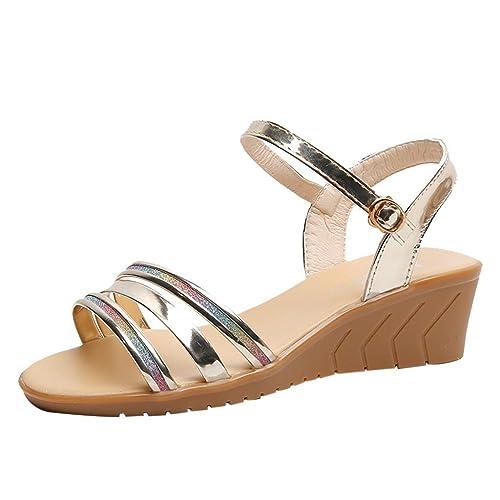 Summer Hot Strap Women Donna Sandali Open Fashion Toe Buckle Girls zSUVpMq