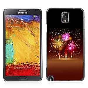 Carcasa Funda Case // V0000744 Fireworks Sky //Samsung Galaxy Note 3 N9006