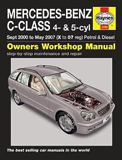 mercedes benz c class 2001 to 2007 haynes repair manual paperback rh amazon co uk 2008 mercedes benz c300 4matic owners manual 2009 Mercedes C300