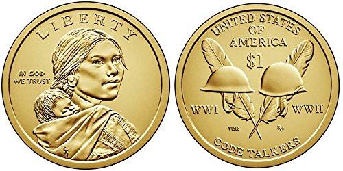 2016 P, D Native American (Sacagawea/Golden) Dollar 2 Coin Set Uncirculated