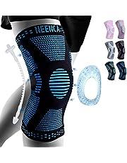 NEENCA Kniebrace, kniecompressie mouw ondersteuning met Patella Gel Pad & Side Spring Stabilisatoren, Medische Grade Knie Protector voor hardlopen, Meniscus Tear, Artritis, Gezamenlijke Pijnverlichting, ACL, Verwondherstel