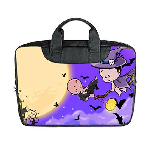 [JIUDUIDODO Custom Cool Halloween Evil Jack with Bat Nylon Waterproof Bag Computer Bag Handbag for Laptop 15.6