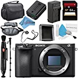 Sony Alpha a6500 Mirrorless Digital Camera (Body) ILCE6500/B + NP-FW50 Replacement Lithium Ion Battery + External Rapid Charger + Carrying Case + Memory Card Wallet + Deluxe Cleaning Kit Bundle