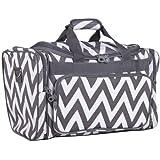 Ever Moda Grey Chevron Duffle Bag 19-inch